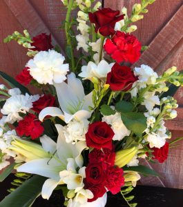Funeral and memorial flower arrangements done by CNF Florist