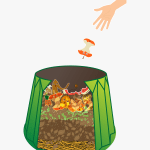 cartoon of a composting container